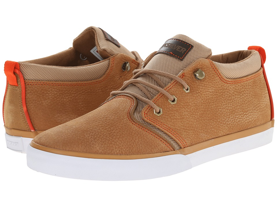 Quiksilver - Griffin FG (Brown/Brown/Orange) Men's Shoes