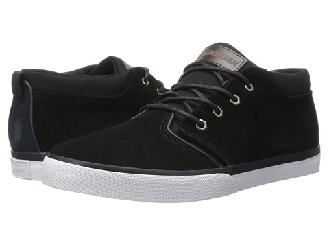 Quiksilver - Griffin Suede '15 (Black/Blue/White) Men's Lace up casual Shoes