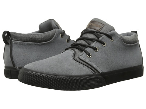 Quiksilver - Griffin Suede '15 (Grey/Grey/Grey) Men's Lace up casual Shoes