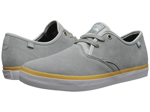 Quiksilver - Shorebreak Suede (Grey/Grey/White) Men's Lace up casual Shoes