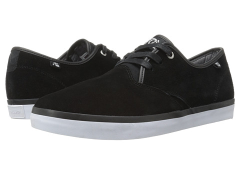 Quiksilver - Shorebreak Suede (Black/Black/White) Men's Lace up casual Shoes