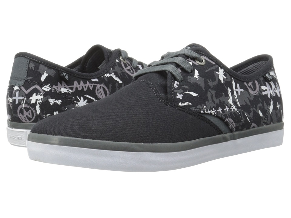 Quiksilver - Shorebreak Print (Black/Grey/White) Men's Lace up casual Shoes