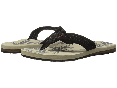 Quiksilver - Carver Suede Art (Tan/Pattern) Men's Sandals