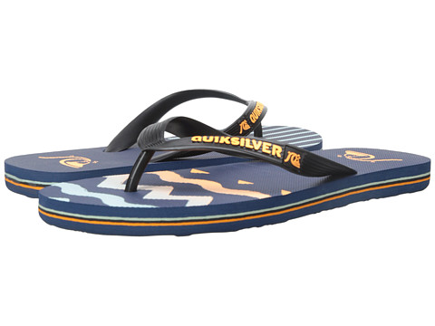 Quiksilver - Molokai Ghetto Remix (Blue/Blue/Orange) Men's Sandals