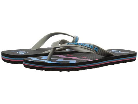 Quiksilver - Molokai Ghetto Remix (Grey/Blue/Blue) Men's Sandals