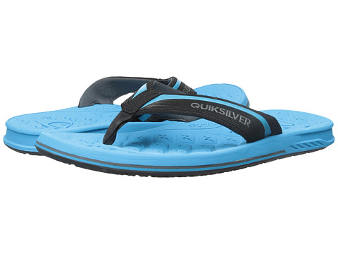Quiksilver - Monkey Texture Deluxe (Black/Blue/Black) Men's Sandals
