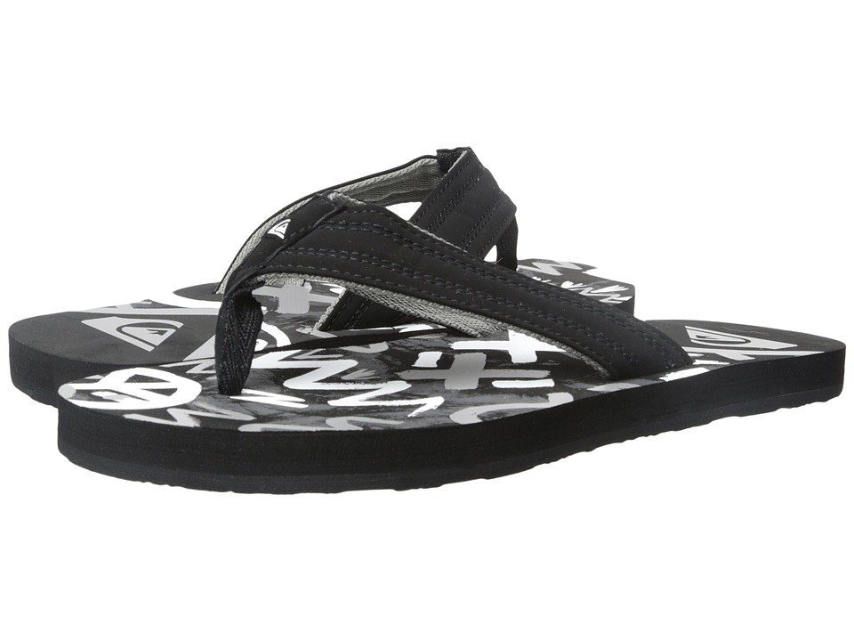 Quiksilver - Basis (Black/Black/White) Men's Sandals