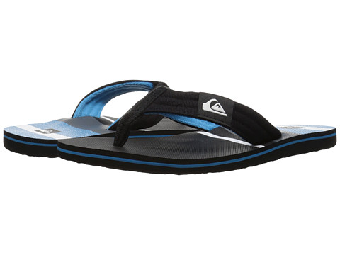 Quiksilver - Molokai Layback (Black/White/Blue) Men's Sandals