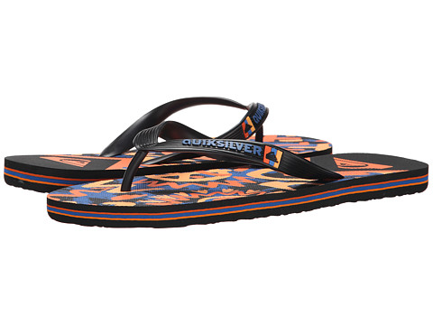 Quiksilver - Molokai Cave Rave (Black/Red/Blue) Men's Sandals