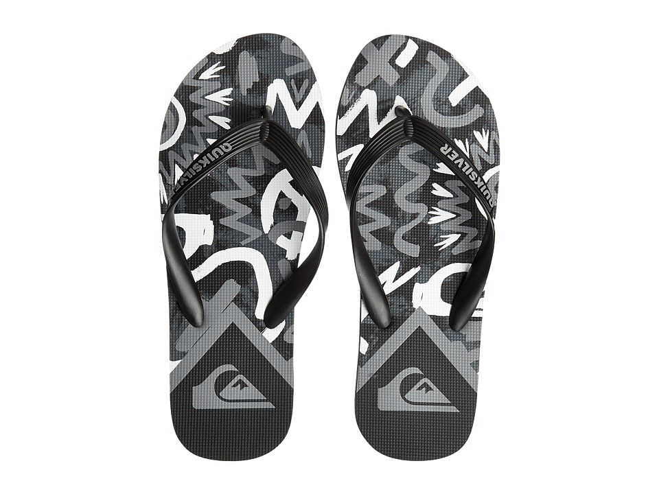 Quiksilver - Molokai Cave Rave (Black/White/Black) Men's Sandals