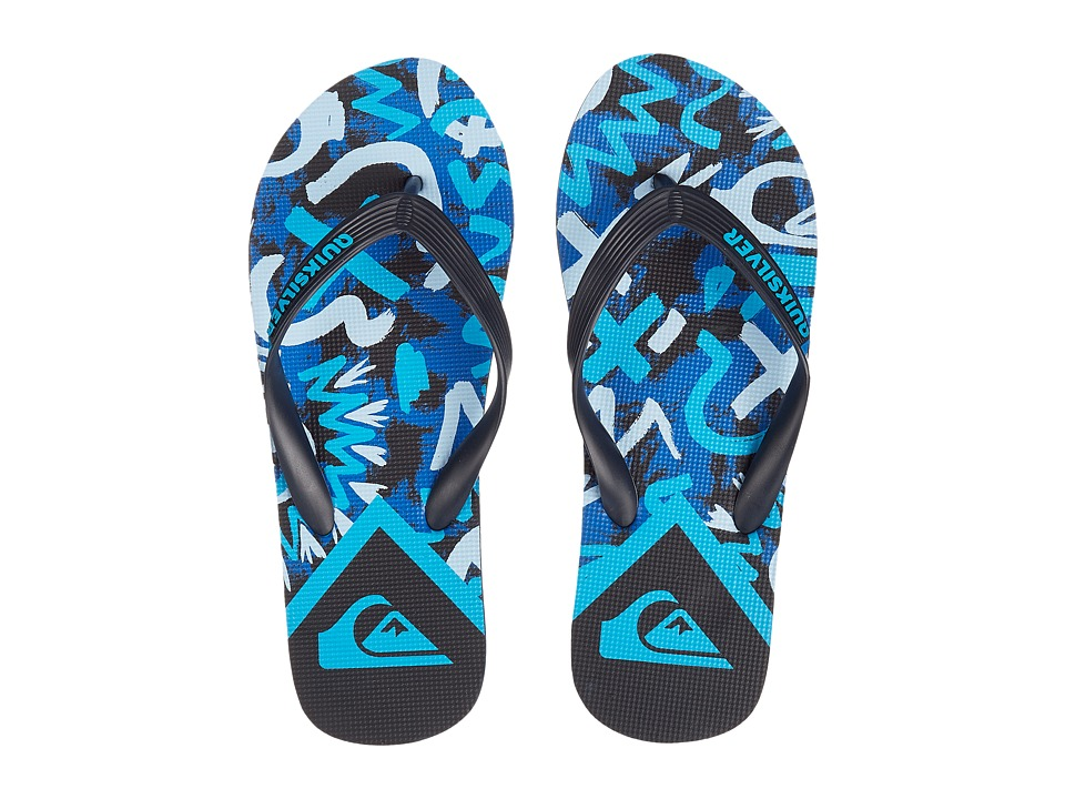 Quiksilver - Molokai Cave Rave (Black/Blue/Blue) Men