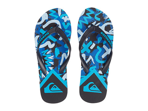 Quiksilver - Molokai Cave Rave (Black/Blue/Blue) Men's Sandals