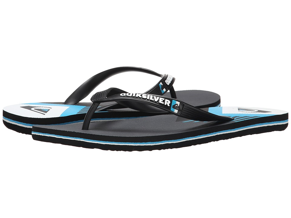 Quiksilver - Molokai New Wave Panel (Black/Blue/White) Men's Sandals