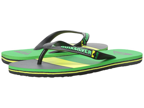 Quiksilver - Molokai Sunset '15 (Black/Yellow/Green) Men's Sandals