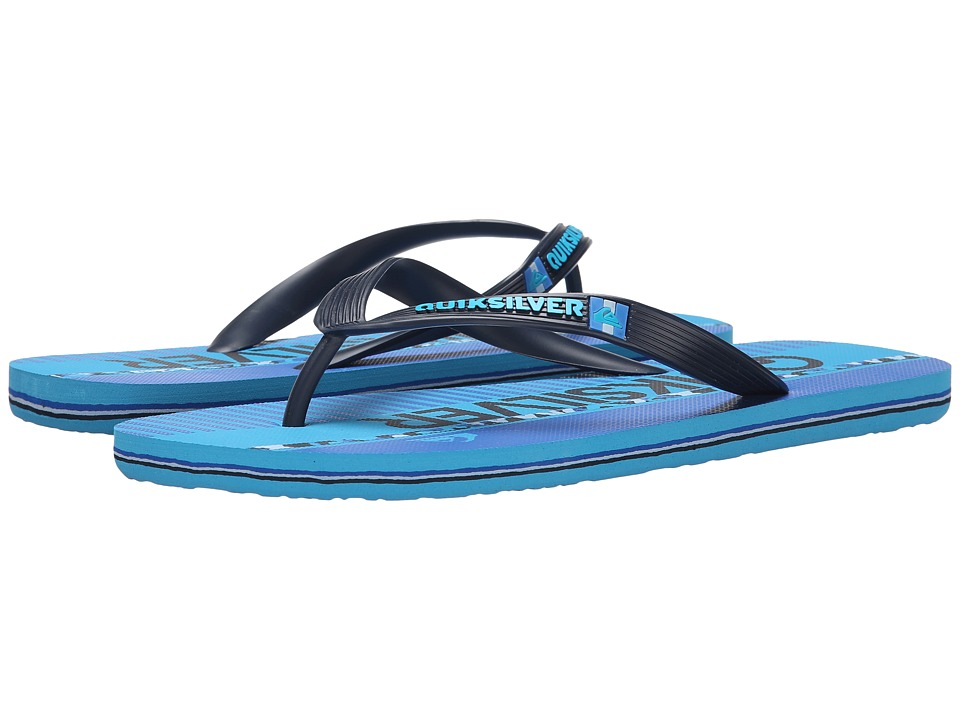 Quiksilver - Molokai Wordmark '15 (Blue/Blue/Blue) Men's Sandals