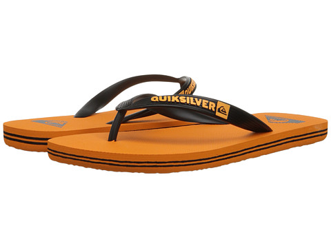 Quiksilver - Molokai (Black/Orange/Orange) Men's Sandals