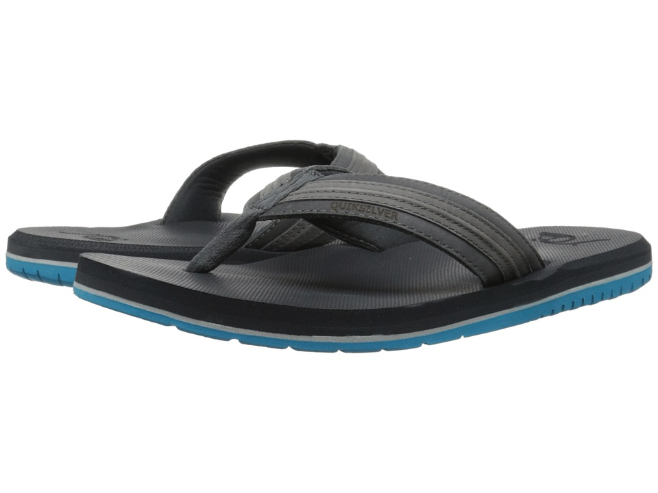 Quiksilver - Coastal Oasis (Grey/Grey/Blue) Men's Sandals