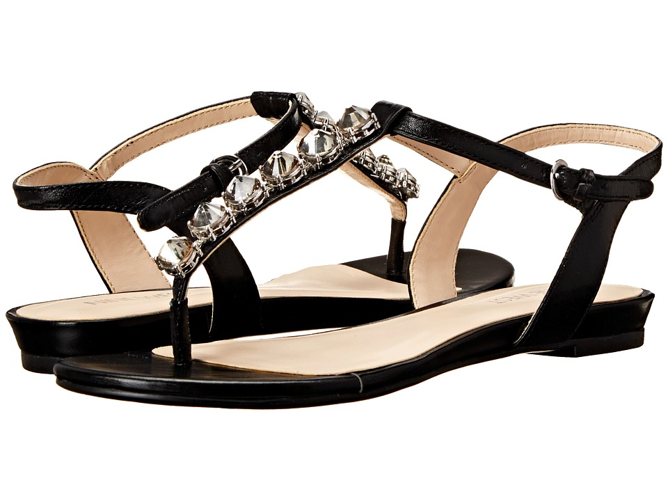Nine West - Oberlander (Black Leather) Women's Sandals