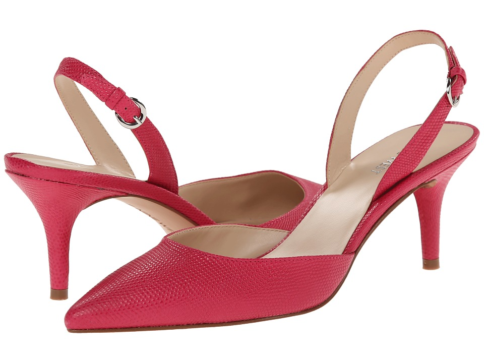 Nine West - Margareth (Pink Leather) Women's 1-2 inch heel Shoes