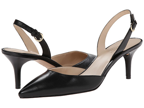Nine West - Margareth (Black Leather 1) Women's 1-2 inch heel Shoes