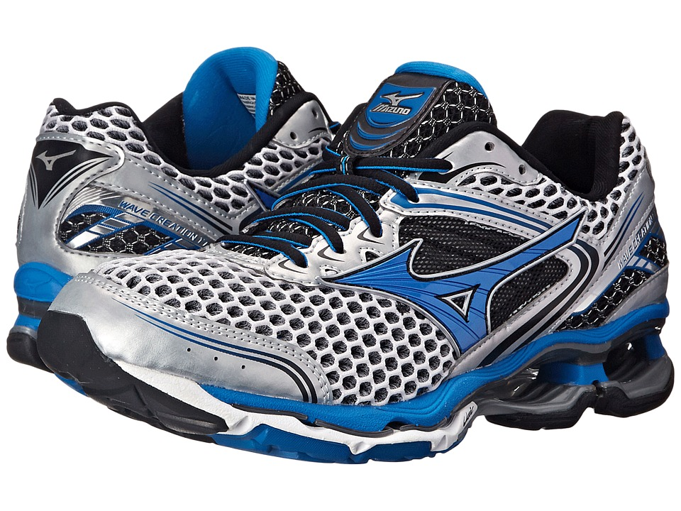 Mizuno - Wave Creation 17 (Silver/Directoire Blue/Black) Men