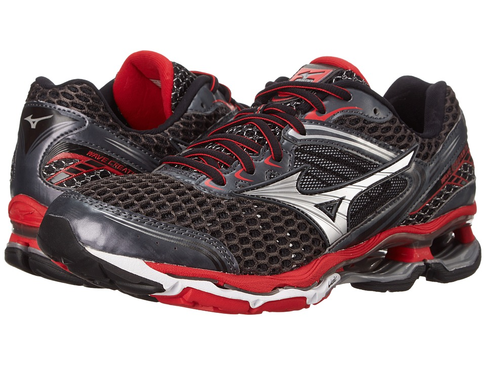 Mizuno - Wave Creation 17 (Dark Shadow/Silver/Chinese Red) Men's Running Shoes