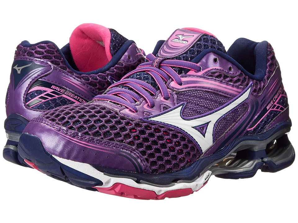 Mizuno - Wave Creation 17 (Pansy/White/Electric) Women's Running Shoes