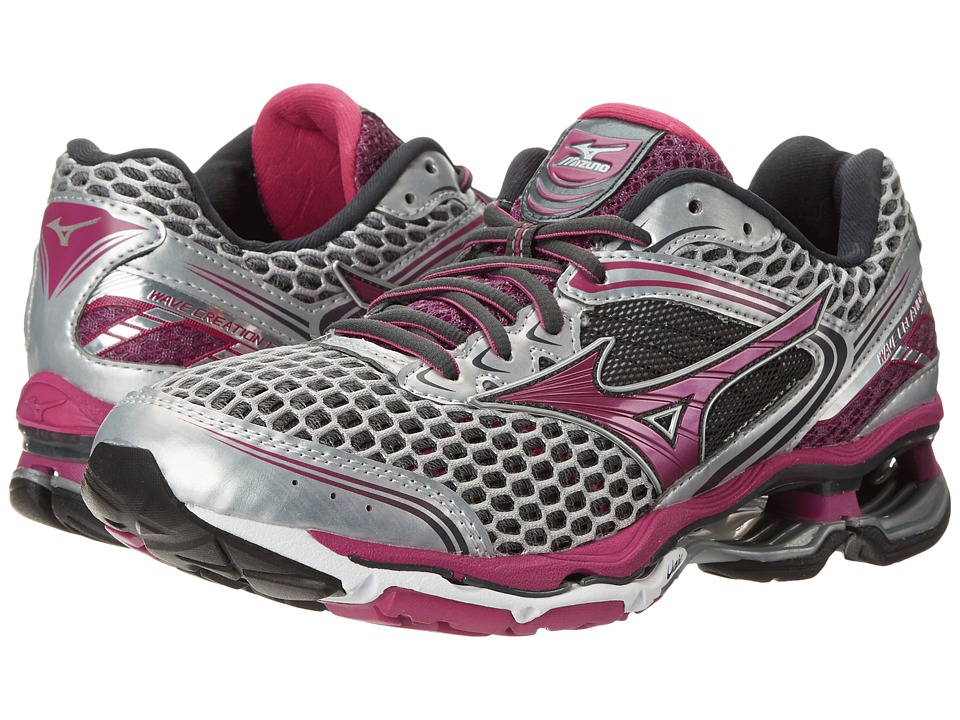 Mizuno Wave Creation 17 (Silver/Wild Aster/Dark Shadow) Women