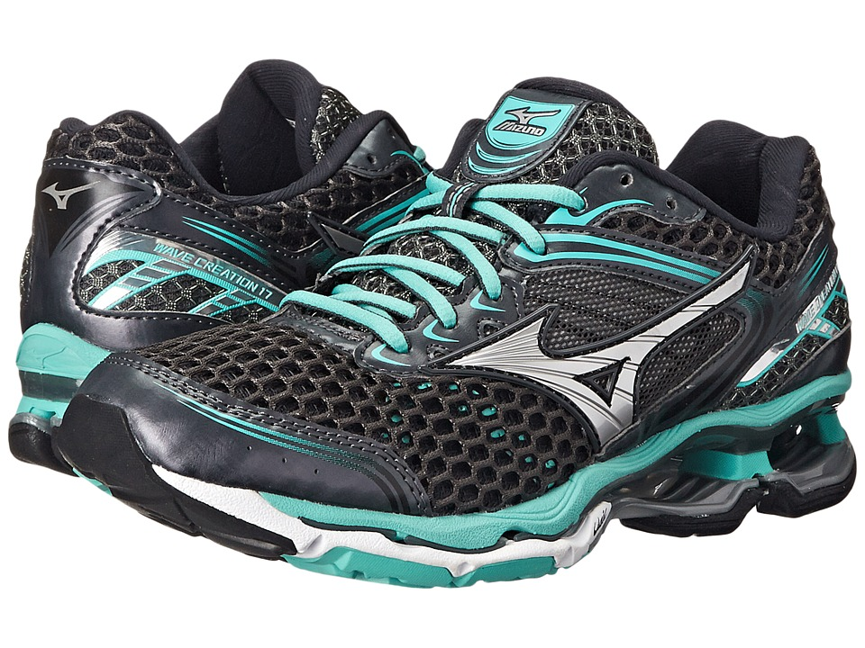 Mizuno - Wave Creation 17 (Dark Shadow/Silver/Florida Keys) Women's Running Shoes