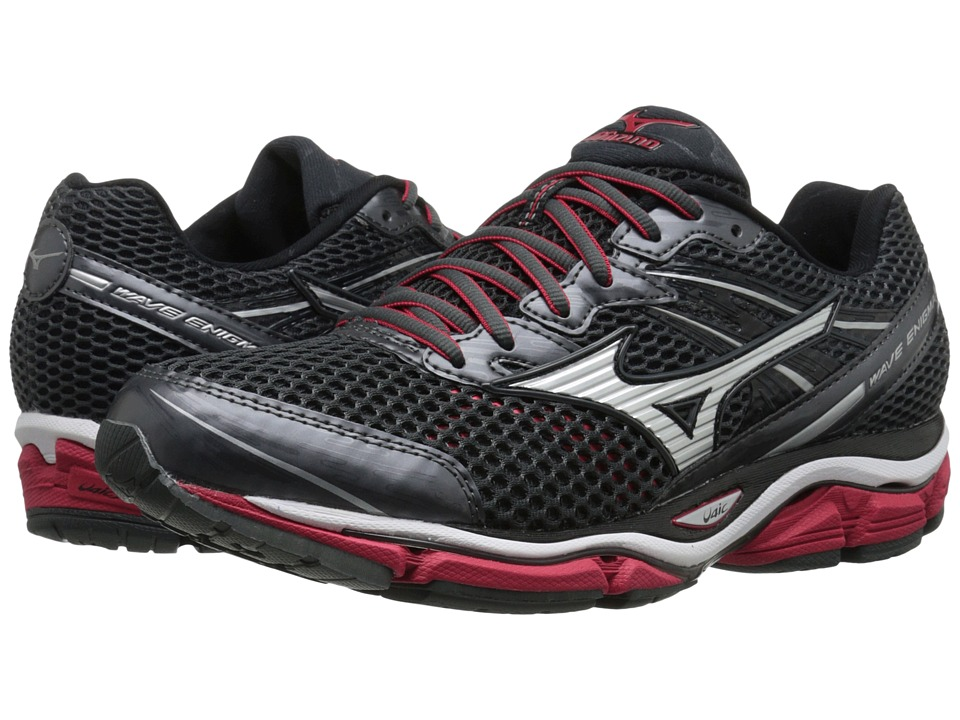 Mizuno - Wave Enigma 5 (Dark Shadow/Silver/Shin Red) Men's Running Shoes