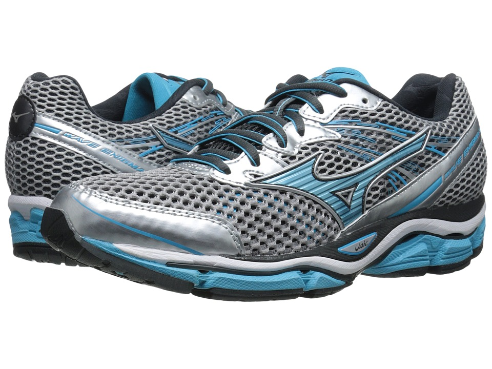 Mizuno - Wave Enigma 5 (Silver/Blue Atoll/Dark Shadow) Women's Running Shoes