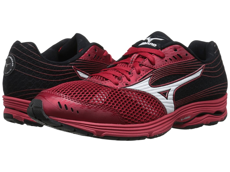 Mizuno - Wave Sayonara 3 (Shin Red/White/Black) Men's Running Shoes