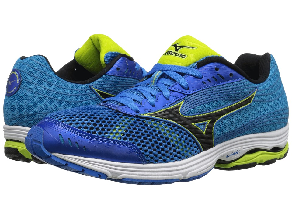 Mizuno - Wave Sayonara 3 (Electric Blue Lemonade/Black/Lime Punch) Men's Running Shoes