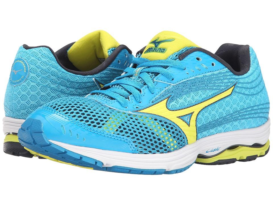 Mizuno - Wave Sayonara 3 (Blue Danube/Bolt/Blue Atoll) Women's Running Shoes