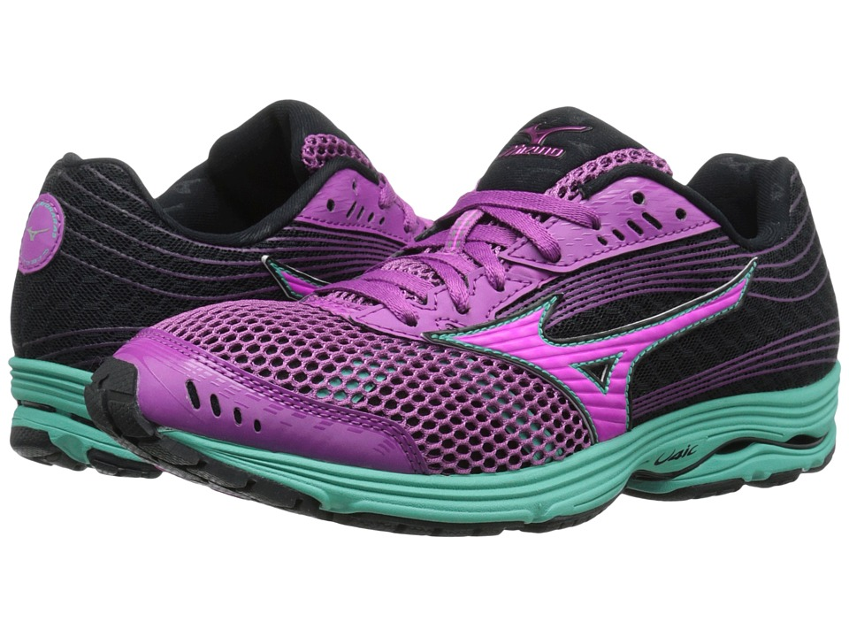 Mizuno - Wave Sayonara 3 (Wild Aster/Electric/Black) Women