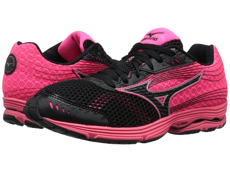 Mizuno - Wave Sayonara 3 (Black/Neon Pink) Women's Running Shoes