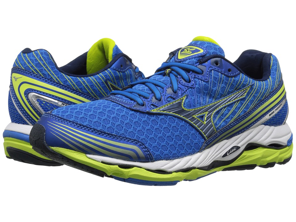 Mizuno - Wave Paradox 2 (Electric Blue Lemonade/Dress Blue/Lime Punch) Men's Running Shoes