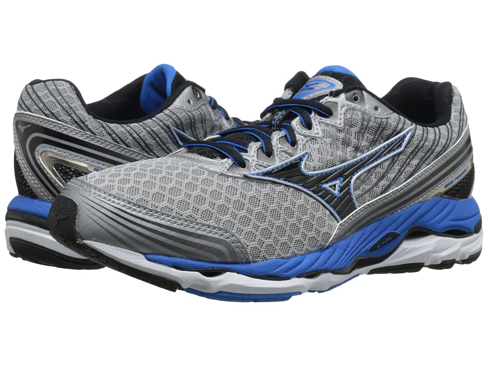 Mizuno - Wave Paradox 2 (Alloy/Black/Electric Blue Lemonade) Men's Running Shoes