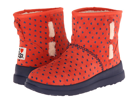 UGG - Kisses Mini (Navy Blue Hearts Suede) Women's Boots