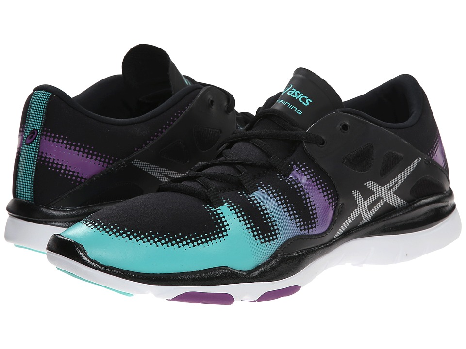ASICS - GEL-Fit Vida (Black/Silver/Aqua Mint) Women's Cross Training Shoes