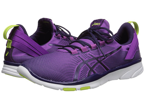 ASICS - Gel-Fit Sana 2 (Grape/Dark Berry/Flash Yellow) Women's Cross Training Shoes