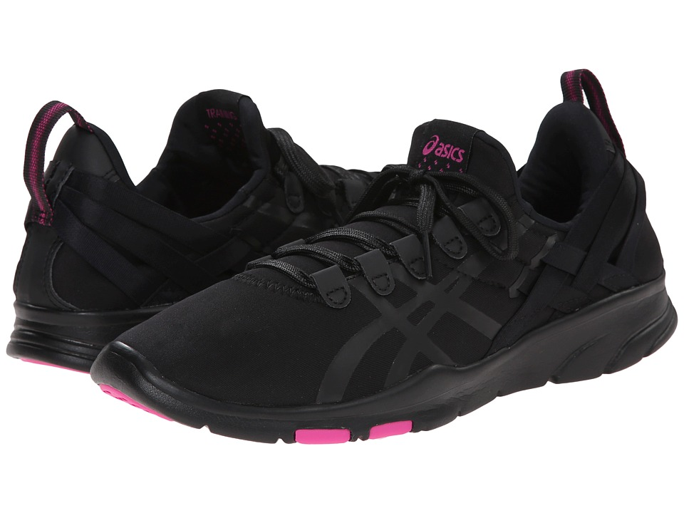 ASICS - GEL-Fit Sana (Onyx/Charcoal/Hot Pink) Women's Cross Training Shoes