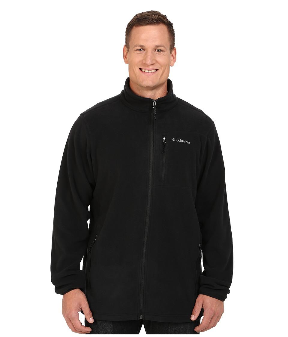 Columbia - Big Tall Cascades Explorer Full Zip Fleece (Black) Men's Coat