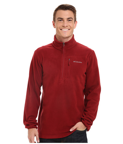 Columbia - Cascades Explorer Half Zip Fleece (Red Element) Men's Coat