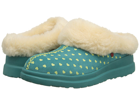 UGG - Dreams (Limeade Hearts Suede) Women's Slippers