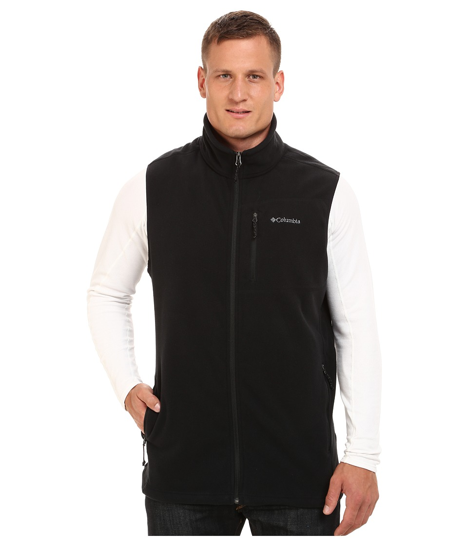 Columbia - Big Tall Cascades Explorer Fleece Vest (Black) Men's Vest