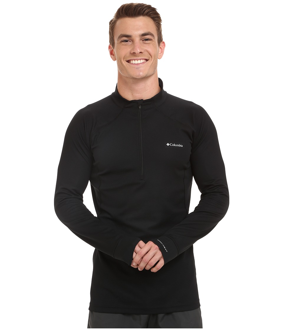 Columbia - Heavyweight II Long Sleeve Half Zip (Black) Men's Long Sleeve Pullover