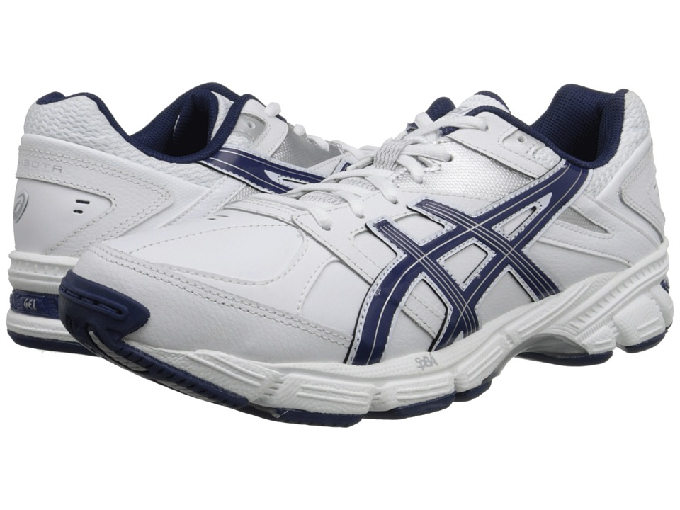 ASICS - GEL-190 TR (White/Navy/Silver) Men's Cross Training Shoes