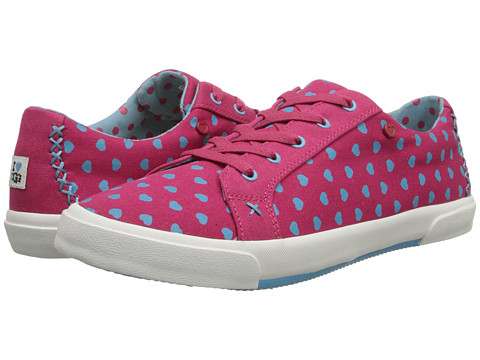 UGG - Lace Up (Powder Blue Hearts Canvas) Women's Lace up casual Shoes