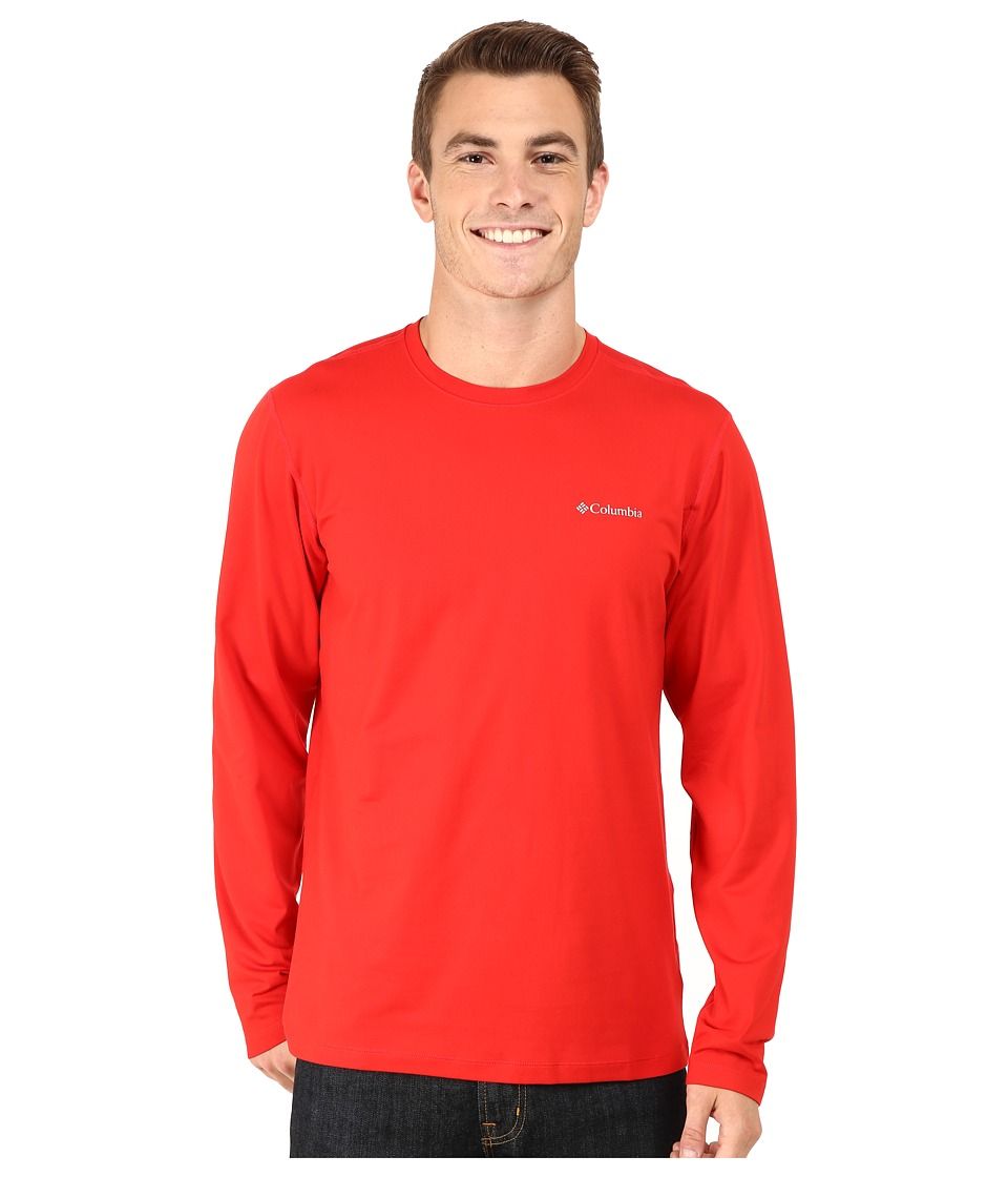 Columbia - Trail Summit Long Sleeve Shirt (Bright Red) Men